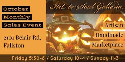 Art to Soul Galleria's Everything October Monthly Sales Event