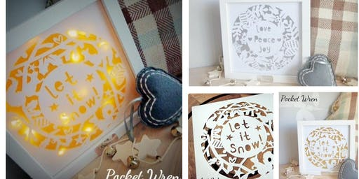 Papercut Light up Wreaths