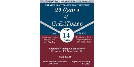 Greater Elkton Area Toastmasters 25th Anniversary Celebration