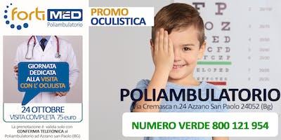 VISITA COMPLETA CON l'OCULISTA - PROMO OTTOBRE 2019