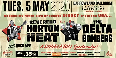 Reverend Horton Heat + Delta Bombers & Support from The Bikini Bottoms tickets