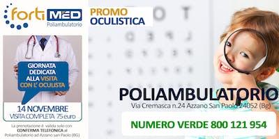VISITA COMPLETA CON l'OCULISTA - PROMO NOVEMBRE 2019