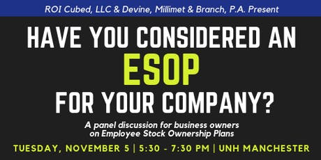 Have You Considered an ESOP for Your Company? tickets