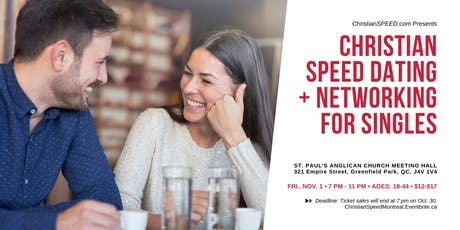 MONTREAL SOUTH SHORE CHRISTIAN SPEED DATING + NETWORKING for Singles (Ages: 18-44) | Multi-Group Event | Greenfield Park | tickets