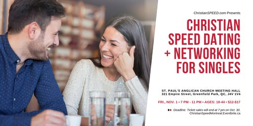 MONTREAL SOUTH SHORE CHRISTIAN SPEED DATING + NETWORKING for Singles (Ages: 18-44) | Multi-Group Event | Greenfield Park |
