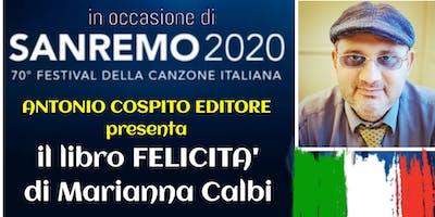 Antonio Cospito presenta il libro Felicità di Marianna Calbi a Sanremo 2020