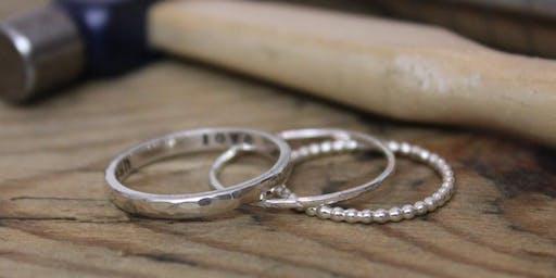 Silver Stacking Ring Workshop - Beginners Silversmithing