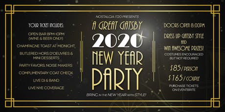 A Great Gatsby 2020 New Year Party  tickets