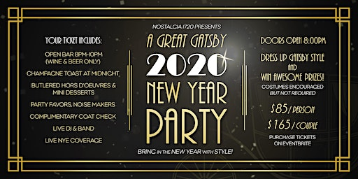 A Great Gatsby 2020 New Year Party
