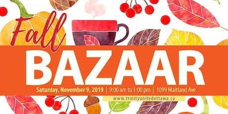Fall Bazaar - Trinity United Church tickets