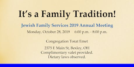 Jewish Family Services Annual Meeting tickets