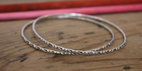 Silver Bangle with Charm - Beginners Silversmithing tickets