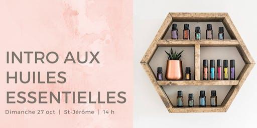 Intro aux huiles essentielles / Alexandra Yoga St-Jérôme