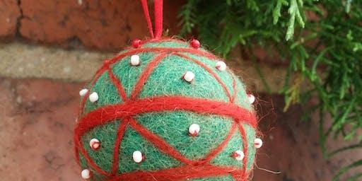 Needle Felted Christmas Decoration