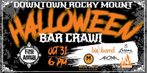 Downtown Rocky Mount Halloween Bar Crawl