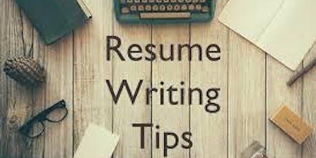 Resume Writing   tickets