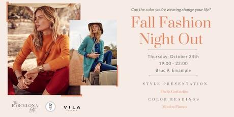 The Barcelona Edit: Fall Fashion Night Out!  entradas