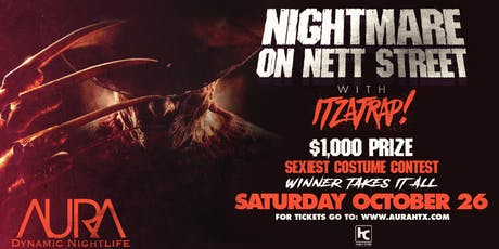 Nightmare on Nett St, Aura Halloween Weekend, Saturday |10.26.19| tickets