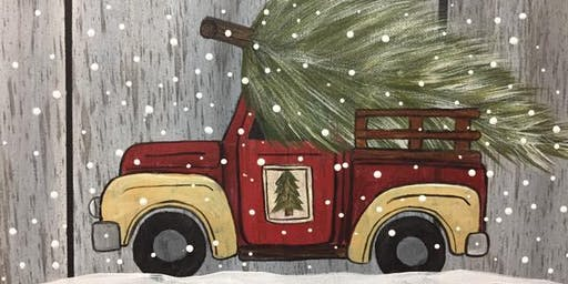 Vintage Tree Truck- Paint with Me, Foxglove Hollow