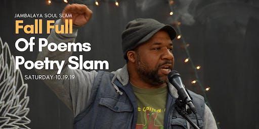 Jambalaya Soul Slam Fall Poetry Slam