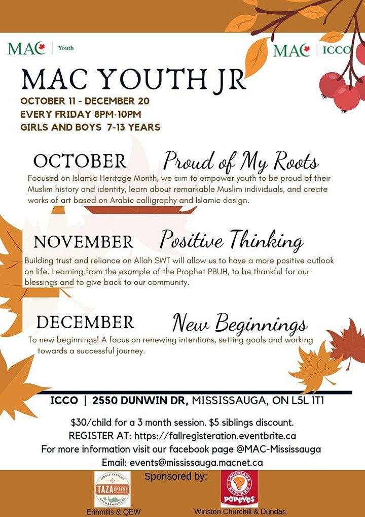 MAC Youth Jr - Fall Program Registration image