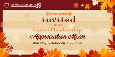 Center Membership Appreciation Mixer tickets