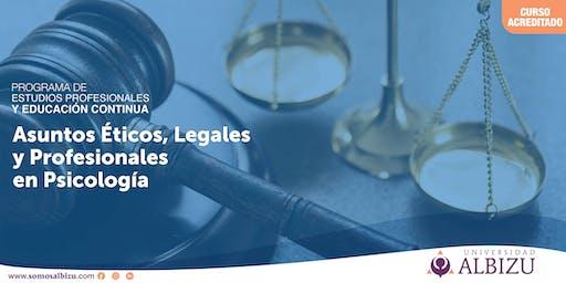 EC: Asuntos Éticos, Legales y Profesionales en Psicología