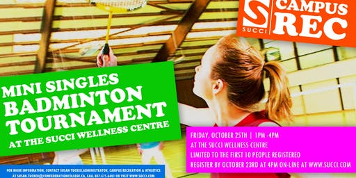 Men's & Women's Singles Badminton Tourney