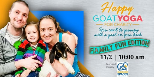 Happy Goat Yoga-For Charity: Family Fun Edition at Martin House Brewing
