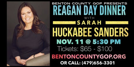Republican Party of Benton County Presents Sarah Huckabee Sanders tickets