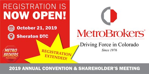 Metro Brokers, Inc.  Annual Convention & Shareholder's Meeting 2019