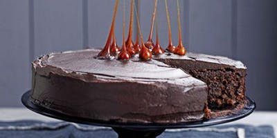 Chocolate Cake, Chocolate Frosting, Caramel Dipped Hazelnuts $85