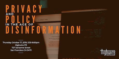 Privacy and Policy in the Age of Disinformation tickets