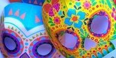 Mixed media Art Class - Calavera Mask
