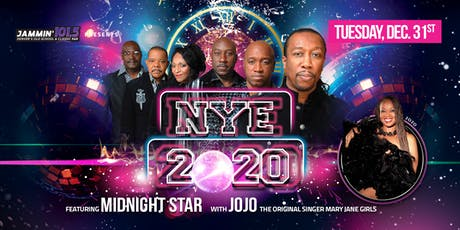 Price is for 2 VIP Tickets NYE 2020 Countdown w Midnight Star & Mary Jane Girls tickets