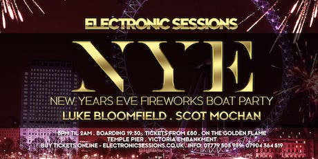 ElectronicSessions New Year Eve Fireworks Boat Party tickets