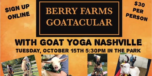 GOAT YOGA NASHVILLE- POP UP CLASS/ BERRY FARMS HALLOWEEN GOATACULAR