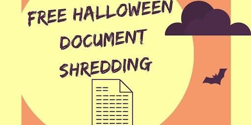 Free Halloween Document Shredding