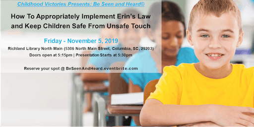 How To Implement Erins Law: Keeping Children Safe From Unsafe Touch