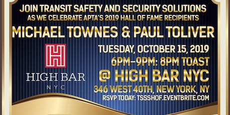 Celebration of APTA's Hall of Fame Recipients Michael Townes & Paul Toliver tickets