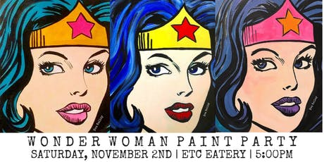 Wonder Woman Paint Party at Etc Eatery tickets