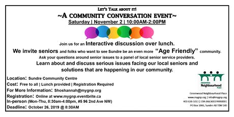 Let's Talk About It!  Community Conversation Event tickets