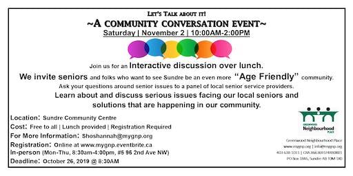 Let's Talk About It!  Community Conversation Event