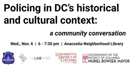 Putting Policing in Historical and Cultural Context in Washington, DC tickets