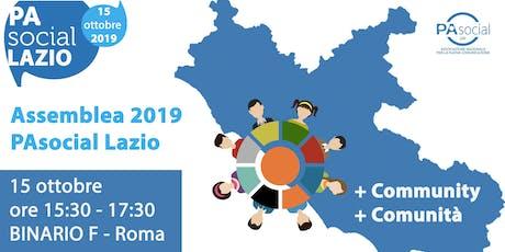 PA Social Lazio: Assemblea Coordinamento regionale biglietti
