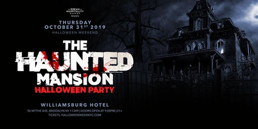 Halloween Night  At  The Haunted Mansion Williamsburg Hotel  October 31