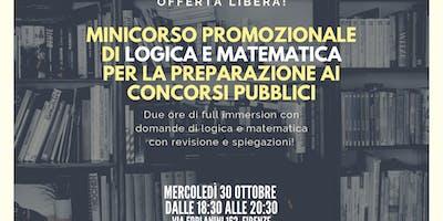 Corso di Logica e Matematica in preparazione a concorsi