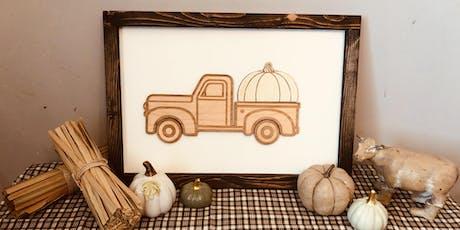 Vintage Farm Truck Sign tickets