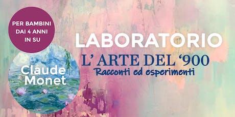 """Laboratorio per bambini: """"L'arte del 900"""" - Claude Monet biglietti"""