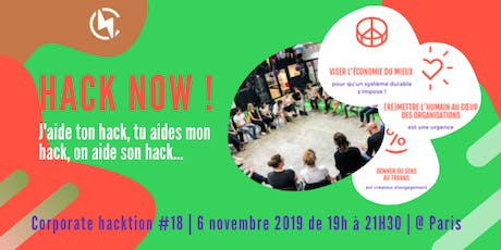 HACK NOW ! Corporate hacktion #18 billets